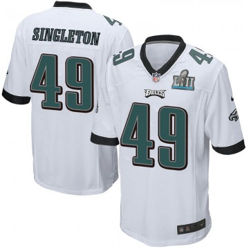 Youth Nike Philadelphia Eagles Alex Singleton White Super Bowl LII Jersey - Game