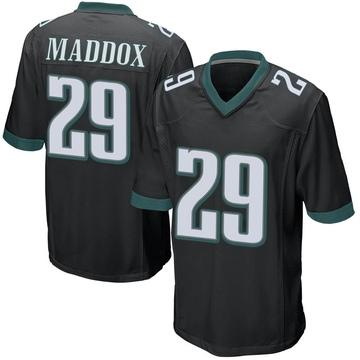 Youth Nike Philadelphia Eagles Avonte Maddox Black Alternate Jersey - Game