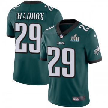 Youth Nike Philadelphia Eagles Avonte Maddox Green Midnight Team Color Super Bowl LII Vapor Untouchable Jersey - Limited