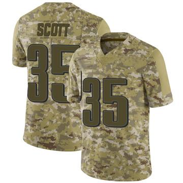 Youth Nike Philadelphia Eagles Boston Scott Camo 2018 Salute to Service Jersey - Limited