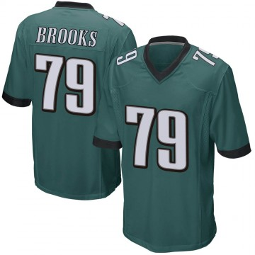Youth Nike Philadelphia Eagles Brandon Brooks Green Team Color Jersey - Game