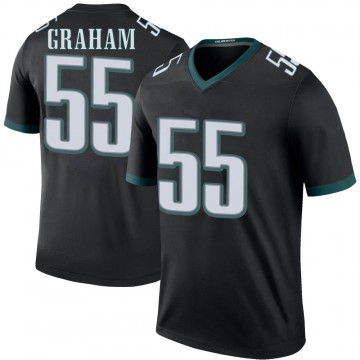Youth Nike Philadelphia Eagles Brandon Graham Black Color Rush Jersey - Legend