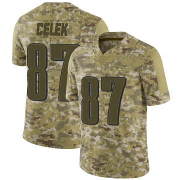 Youth Nike Philadelphia Eagles Brent Celek Camo 2018 Salute to Service Jersey - Limited