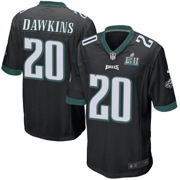 Youth Nike Philadelphia Eagles Brian Dawkins Black Alternate Super Bowl LII Jersey - Game