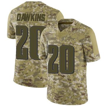 Youth Nike Philadelphia Eagles Brian Dawkins Camo 2018 Salute to Service Jersey - Limited