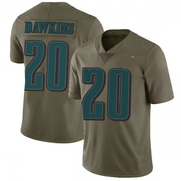 Youth Nike Philadelphia Eagles Brian Dawkins Green 2017 Salute to Service Jersey - Limited