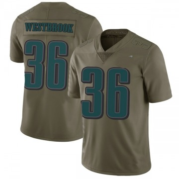 Youth Nike Philadelphia Eagles Brian Westbrook Green 2017 Salute to Service Jersey - Limited