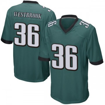 Youth Nike Philadelphia Eagles Brian Westbrook Green Team Color Jersey - Game