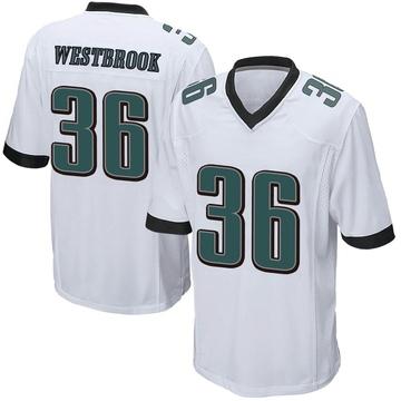 Youth Nike Philadelphia Eagles Brian Westbrook White Jersey - Game