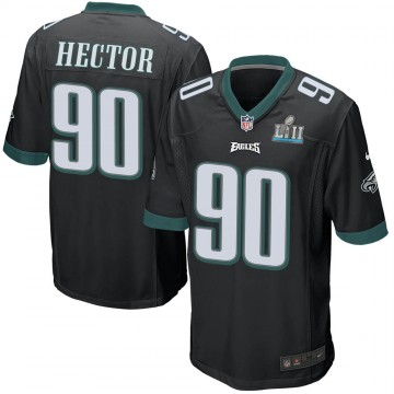 Youth Nike Philadelphia Eagles Bruce Hector Black Alternate Super Bowl LII Jersey - Game