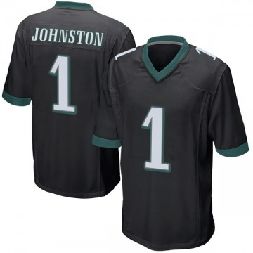 Youth Nike Philadelphia Eagles Cameron Johnston Black Alternate Jersey - Game