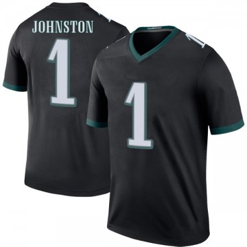 Youth Nike Philadelphia Eagles Cameron Johnston Black Color Rush Jersey - Legend