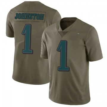 Youth Nike Philadelphia Eagles Cameron Johnston Green 2017 Salute to Service Jersey - Limited
