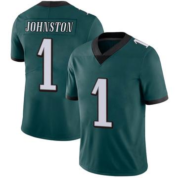 Youth Nike Philadelphia Eagles Cameron Johnston Green Midnight 100th Vapor Jersey - Limited