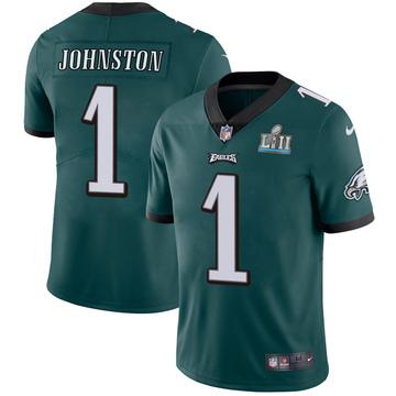 Youth Nike Philadelphia Eagles Cameron Johnston Green Midnight Team Color Super Bowl LII Vapor Untouchable Jersey - Limited