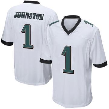 Youth Nike Philadelphia Eagles Cameron Johnston White Jersey - Game