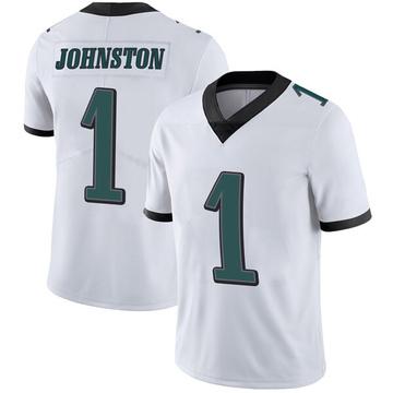 Youth Nike Philadelphia Eagles Cameron Johnston White Vapor Untouchable Jersey - Limited