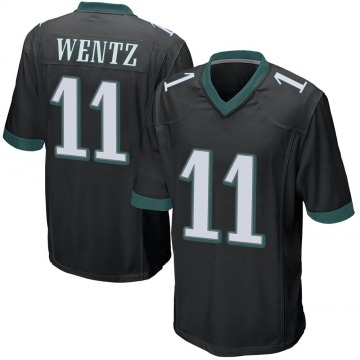 Youth Nike Philadelphia Eagles Carson Wentz Black Alternate Jersey - Game