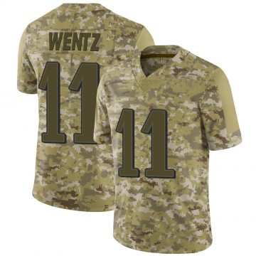Youth Nike Philadelphia Eagles Carson Wentz Camo 2018 Salute to Service Jersey - Limited