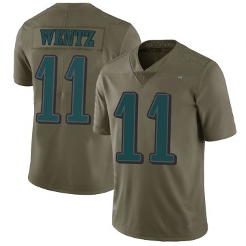 Youth Nike Philadelphia Eagles Carson Wentz Green 2017 Salute to Service Jersey - Limited