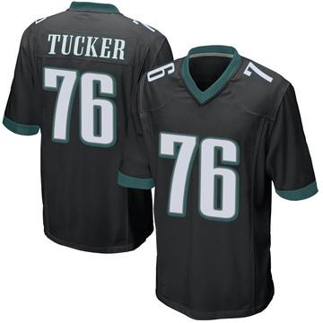 Youth Nike Philadelphia Eagles Casey Tucker Black Alternate Jersey - Game