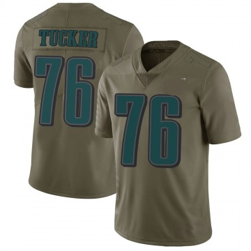 Youth Nike Philadelphia Eagles Casey Tucker Green 2017 Salute to Service Jersey - Limited