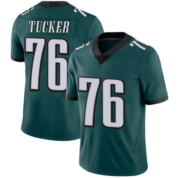 Youth Nike Philadelphia Eagles Casey Tucker Green Midnight Team Color Vapor Untouchable Jersey - Limited