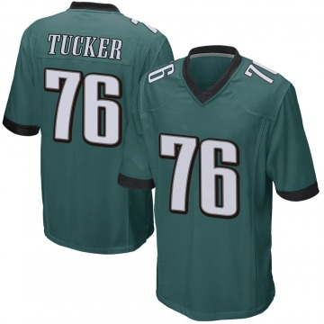 Youth Nike Philadelphia Eagles Casey Tucker Green Team Color Jersey - Game