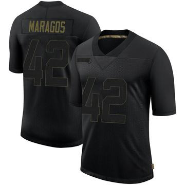 Youth Nike Philadelphia Eagles Chris Maragos Black 2020 Salute To Service Jersey - Limited