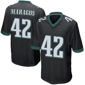 Youth Nike Philadelphia Eagles Chris Maragos Black Alternate Jersey - Game