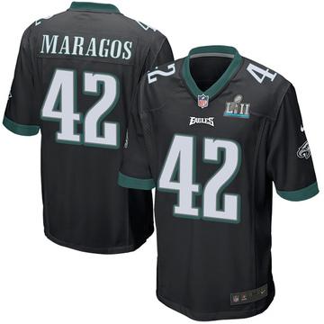 Youth Nike Philadelphia Eagles Chris Maragos Black Alternate Super Bowl LII Jersey - Game