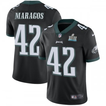 Youth Nike Philadelphia Eagles Chris Maragos Black Alternate Super Bowl LII Vapor Untouchable Jersey - Limited