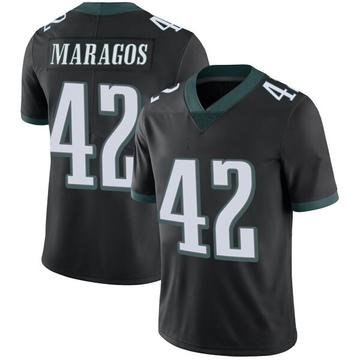 Youth Nike Philadelphia Eagles Chris Maragos Black Alternate Vapor Untouchable Jersey - Limited