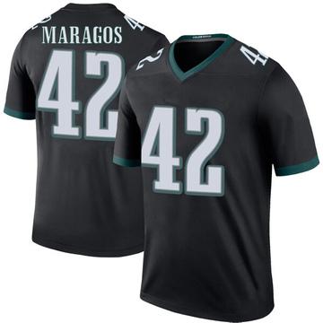 Youth Nike Philadelphia Eagles Chris Maragos Black Color Rush Jersey - Legend
