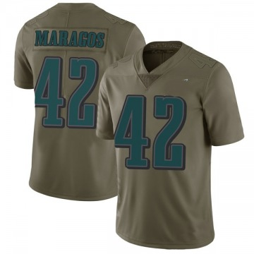 Youth Nike Philadelphia Eagles Chris Maragos Green 2017 Salute to Service Jersey - Limited