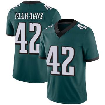 Youth Nike Philadelphia Eagles Chris Maragos Green Midnight 100th Vapor Jersey - Limited