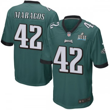 Youth Nike Philadelphia Eagles Chris Maragos Green Team Color Super Bowl LII Jersey - Game