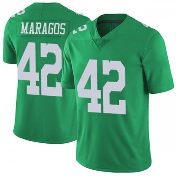 Youth Nike Philadelphia Eagles Chris Maragos Green Vapor Untouchable Jersey - Limited