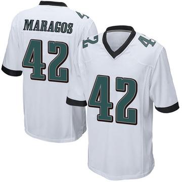Youth Nike Philadelphia Eagles Chris Maragos White Jersey - Game