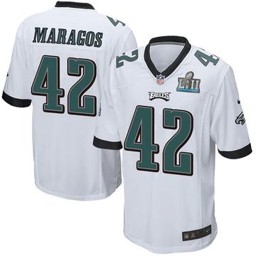 Youth Nike Philadelphia Eagles Chris Maragos White Super Bowl LII Jersey - Game
