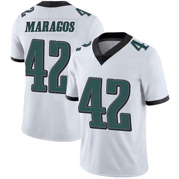 Youth Nike Philadelphia Eagles Chris Maragos White Vapor Untouchable Jersey - Limited