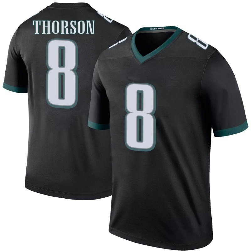 cceec518 Youth Nike Philadelphia Eagles Clayton Thorson Black Color Rush Jersey -  Legend