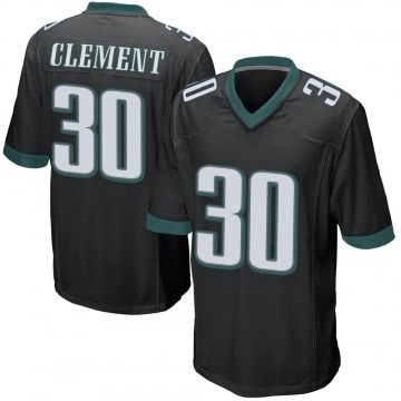 Youth Nike Philadelphia Eagles Corey Clement Black Alternate Jersey - Game