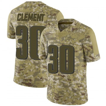 Youth Nike Philadelphia Eagles Corey Clement Camo 2018 Salute to Service Jersey - Limited