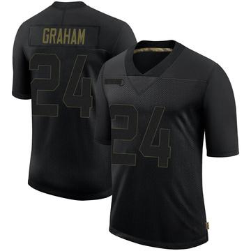 Youth Nike Philadelphia Eagles Corey Graham Black 2020 Salute To Service Jersey - Limited