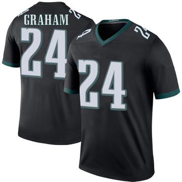 Youth Nike Philadelphia Eagles Corey Graham Black Color Rush Jersey - Legend