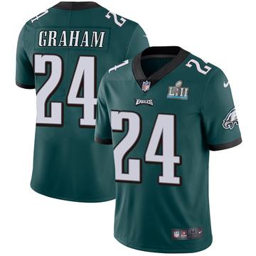 Youth Nike Philadelphia Eagles Corey Graham Green Midnight Team Color Super Bowl LII Vapor Untouchable Jersey - Limited
