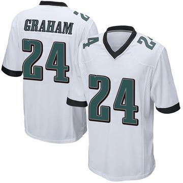 Youth Nike Philadelphia Eagles Corey Graham White Jersey - Game