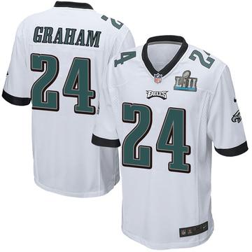 Youth Nike Philadelphia Eagles Corey Graham White Super Bowl LII Jersey - Game