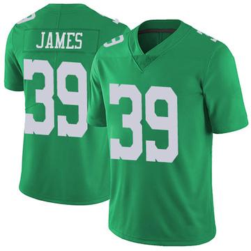 Youth Nike Philadelphia Eagles Craig James Green Vapor Untouchable Jersey - Limited